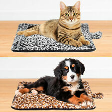 Self Heating Thermal Pet Bed for Cats Dogs Kittens Leopard Design Blanket *