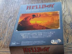 Hellboy The Director's Cut R4 3 Disc DVD Action Sci-Fi  Collectors Edition Book