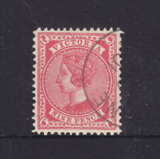 Victoria: 9d Qv V Over Crown Inverted Wmk Very Nice Melbourne Cto Scarce!