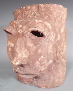Fine American Art Pottery Head Face Vessel by Maxine Miller ca. 20th century