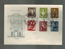 1957 Berlin East Germany DDR First Day Cover FDC Paintings # 355-360