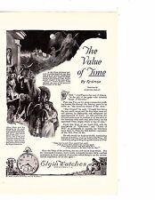 1922 Ad Elgin Watches American Railways Kronos Father Time Artist Harold plato