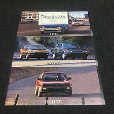 1984 Honda Civic CRX Accord Prelude USDM Brochure Rare Catalog 84-87 83 86 82-85