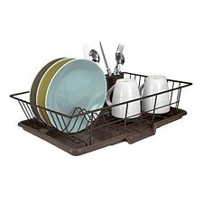 Home Basics Dd30236 3Pc Dish Drainer Set Bronze New
