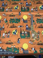 "Halloween Peanuts Snoopy Great Pumpkin Fabric 18""x 22"", Ready To Ship"
