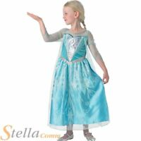 Girls Premium Elsa Costume Deluxe Disney Frozen Fancy Dress Outfit