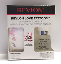 Revlon Love Tattoos, Nail Decals and Top Coat, 14 Decals, 0.5 Fl Oz