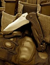 Pocket TACTICAL RESCUE Spring assisted Knife LIFETIME WARRANTY Agoge Blades
