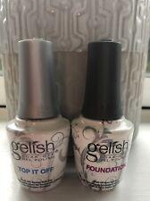 Gelish Soak Off Top It Off & Foundation Gel Polish *Genuine*, Used