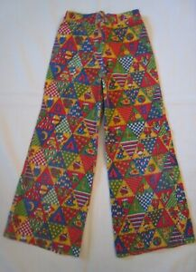 Vintage Child's 1970's Whimsical Corduroy Bell Bottoms sz 6