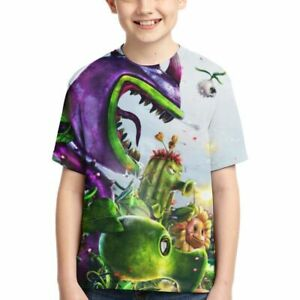 Plants vs Zombies Game Characters Double-Side Print Kid Youth T-Shirt Boys Tops