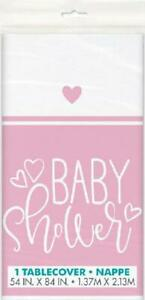 Baby Shower Pink Table Cover