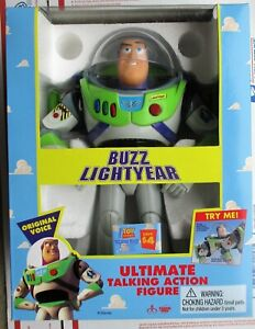 Thinkway TOY STORY BUZZ LIGHTYEAR ULTIMATE TALKING  Original MINT SEALED in BOX