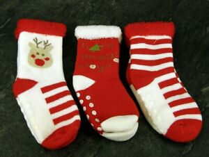 Baby, Toddler ABS, Christmas , Cotton Blend Anti Non Slip Socks 1 Pair