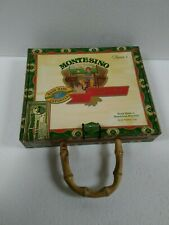 "Vintage Cigar Box Purse ""Montesino"" Bamboo Handle"