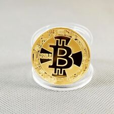 1x Gold Plated Commemorative Bitcoin Collectible Golden Iron Miner Coin