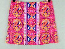 Lilly Pulitzer Mini Skirt Pockets Hot Pink Floral Pattren Size 0 NWOT