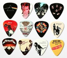 More details for 24 classic album covers on 12 double sided guitar picks premium plectrums