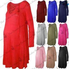 Unbranded Lace Up V-Neck Dresses for Women