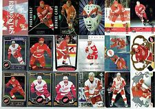 DETROIT RED WINGS LOT OF 220 DIFFERENT CARDS - STARS, MANY VINTAGE