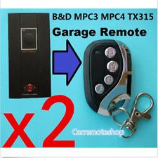 2x B&D BND MPC3 MPC4 TX315  Garage Door Remote CONTROL-A-DOOR  Dominator DOM503