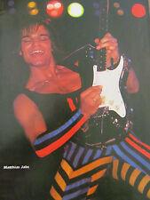 The Scorpions, Matthias Jabs, Full Page Vintage Pinup