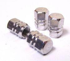 Aleación Rueda Neumático De Coche De Plata Válvula Tapa Polvo X 4 Cápsulas De Aluminio Ford