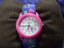 Child's Timex Indiglo Watch with Butterfly Band (Light Works) **Nice ** B15-1010