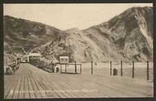 Isle of Wight. Alum Bay Showing Coloured Sand Cliffs. Vintage Printed Postcard
