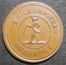 USA token - Civil war era cent - Knickerbocker currency cent - high grade 20.5mm