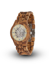 Laimer Wood Wrist Watch Men's Watch Ralf 0097 Zebra Wood Watch Wooden Bracelet