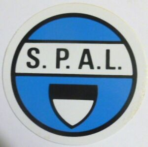 ADESIVO ORIGINALE anni '80 _ SPAL Calcio (cm 9) Old Sticker Vintage