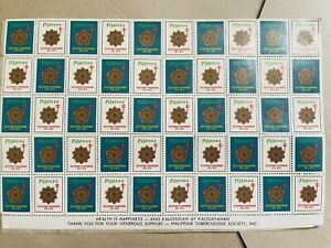 PHILIPPINE STAMPS. Anti Tuberculosis Stamps. Unused Collection Sheet - 50 pcs.