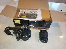 Nikon D D3200 24.2MP Digital SLR Camera - Black (Kit w/ AF-S DX ED VR G 18-55mm…