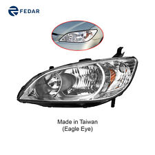 Headlight Lamp Fit 2004 2005 Honda Civic/Hybrid Driver Left