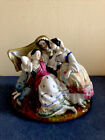 Antique Russian Porcelain Inkwell, Circa 1880 Hand Painted