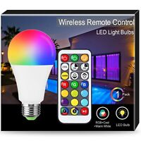 1X 16W Colour Changing Light Bulb, Techgomade A65 E27 RGB+Cool+Warm White RGB...