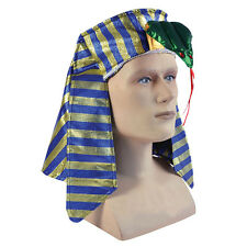 EGYPTIAN PHARAOH HAT HEADPIECE BOYS GRILS CHILDS COSTUME FANCY DRESS ACCESSORY
