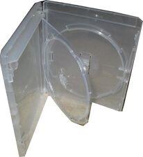 2 x Genuine Double Amaray Clear Bluray Blu ray with tray case