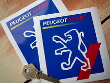 """PEUGEOT SPORT White Lion GP F1 Racing Car Rally Car Stickers 4"""" Pair"""