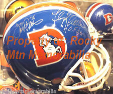 HOFers TERRELL DAVIS & FLOYD LITTLE Autographed Broncos FullSize D-Style Helmet