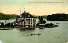 c1910 Postcard; Rostrevor Club, Lake Quinsigamond, Worcester MA Posted