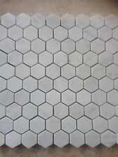 Imperial White Carrara Hexagon Mosaic Tile Polished