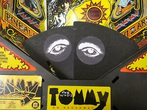 Data East Tommy Pinball Machine Blinders - Not Including Eye Stickers