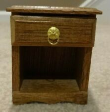 1960's Vintage Dollhouse Furniture, Wooden Night Table, Scale Model, 1:12