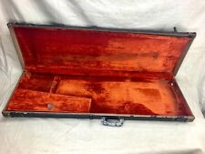Vintage 1960's Fender Bass VI Guitar Case Original Brown-Painted Black 1961-1963