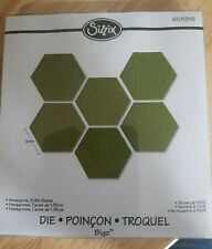 Sizzix Bigz Quilting Hexagons-  3/4 Inch Sides.. New- 658316