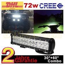 "12"" 72W CREE LED Bar SUV Quad UTE UTV Motorrad auto Jeep 12V Arbeitsscheinwerfer"