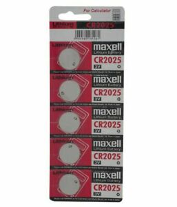 5 X Maxell CR2025 3V Lithium Coin Cell Button Batteries LONG Expiry DL/BR2025