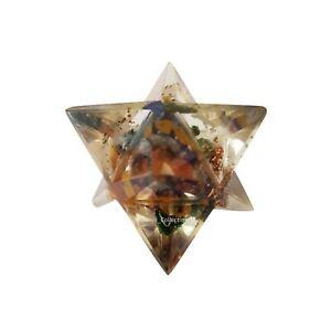 Mix Stone Orgone Merkaba Sacred Star Natural Stone Spiritual Reiki Healing Gift